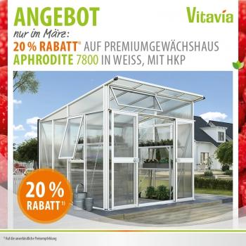 Gewächshaus Aphrodite 7800 10mm HKP (295x267) weiß von Vitavia