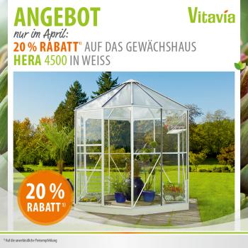 Vitavia Glas Pavillon Hera 4500 4,5m² weiß