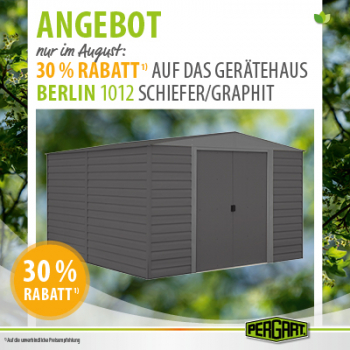 Pergart Gerätehaus Berlin 1012 313x370x209cm