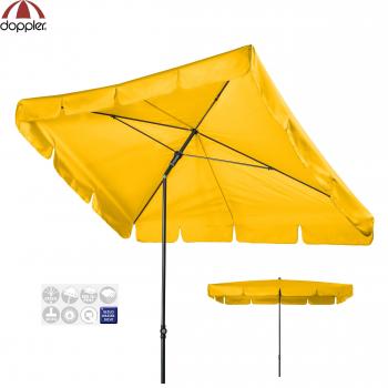 Doppler Schirm Sunline 260x150cm WATERPROOF gelb