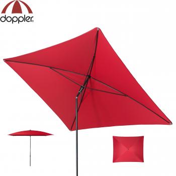 Doppler Schirm Sunline 230x190cm WATERPROOF rot