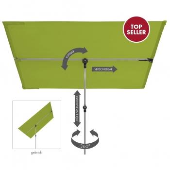 Doppler Active Balkonblende 180x130cm Sichtschutz Sonnenschirm PES fresh green