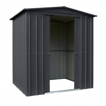 Globel Metall Gerätehaus Dream 65 BxTxH 184x154x193cm 2,46m² Anthrazit