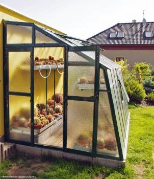 Vario Stahl Anlehngewächshaus Domus 7,5 grün