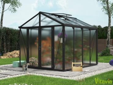 Vitavia Gewächshaus Zeus Comfort 8100 16mm HKP BxT 258x316cm 10m² Alu schwarz