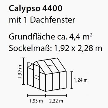 Gartenshop Hartmann Vitavia Gewachshaus Calypso 4400 4 4m